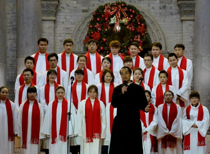 Cina, coro cattolico a Xian