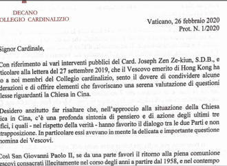 El Vaticano le declara la guerra al cardenal Zen