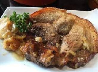 Jamón fresco de cerdo a la sidra
